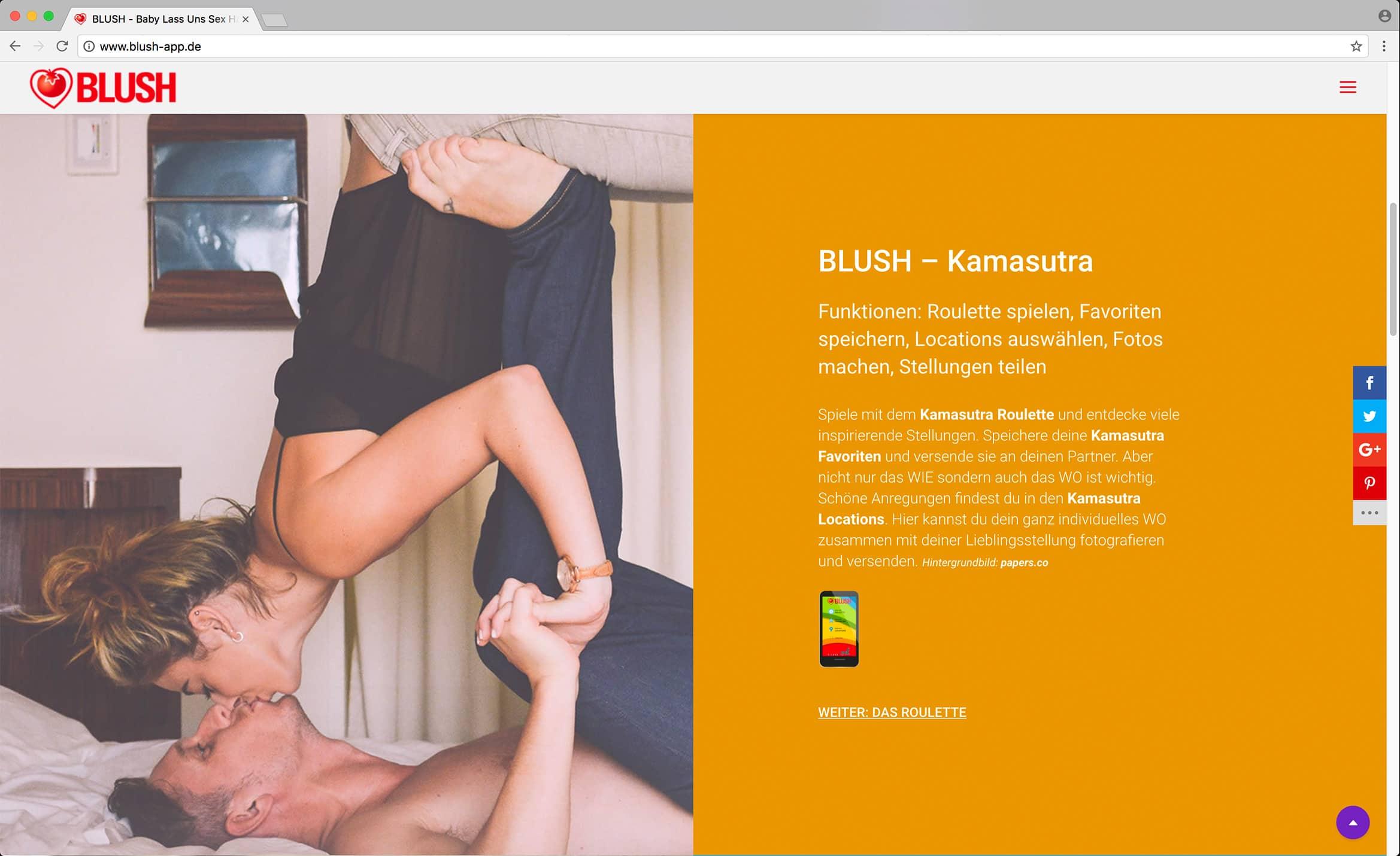 BLUSH – Webseite
