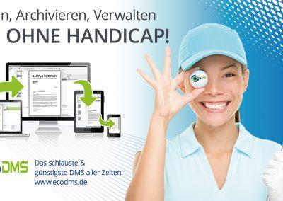 Schildgestaltung für ecoDMS (Golfplatz)