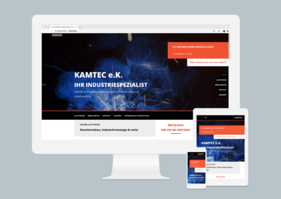 "KAMTEC e.k. – Webseite  <a href=""http://kamtec.biz/"" target=""_blank"" rel=""noopener noreferrer"">www.kamtec.biz</a>"