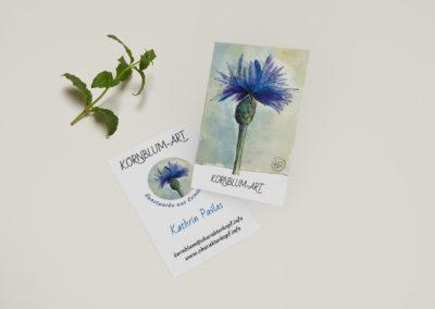 Visitenkarten – Kornblumart