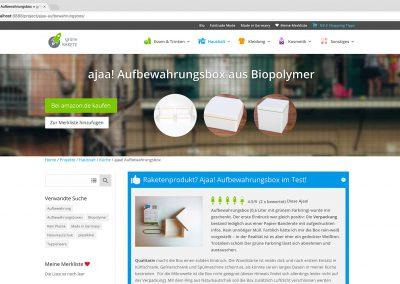 grüne RAKETE – Produktbeispiel
