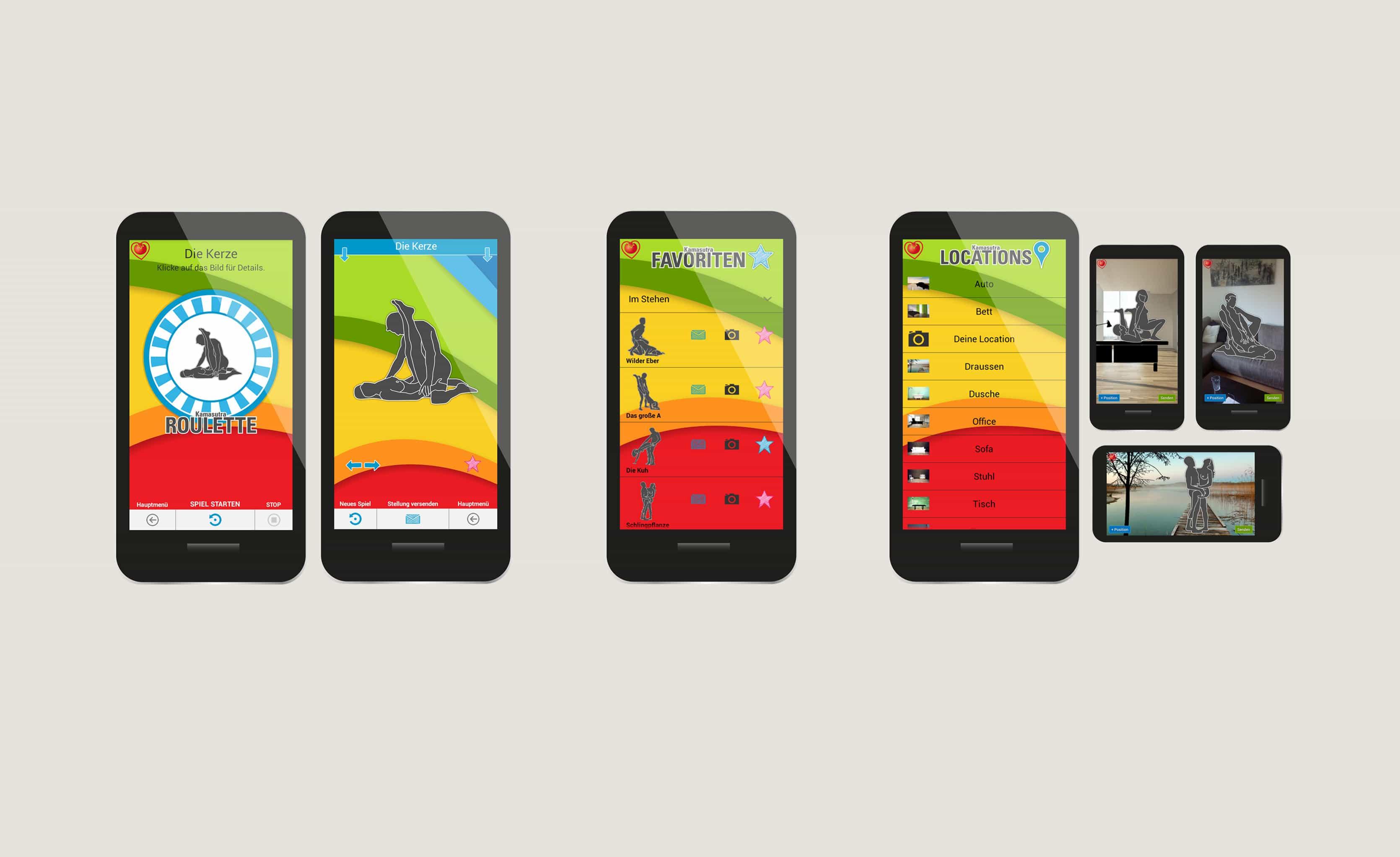BLUSH: App-Screenshots