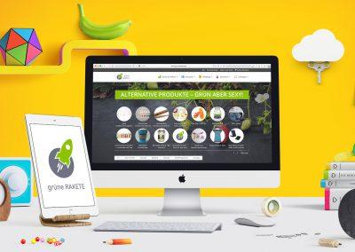 grüne RAKETE – Webseite