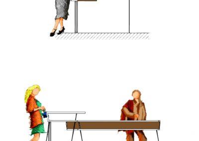 CaféTresen - Technische Zeichnung