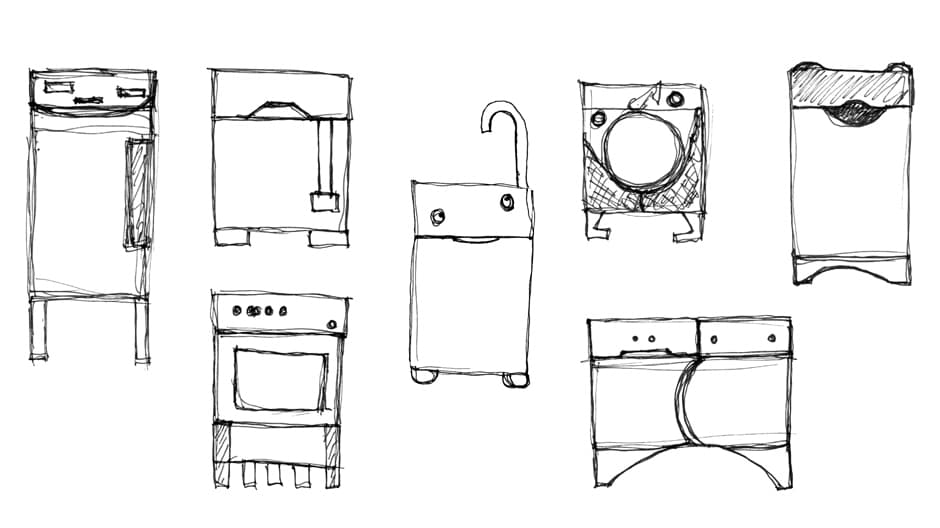 Kinderküche – Skizzen