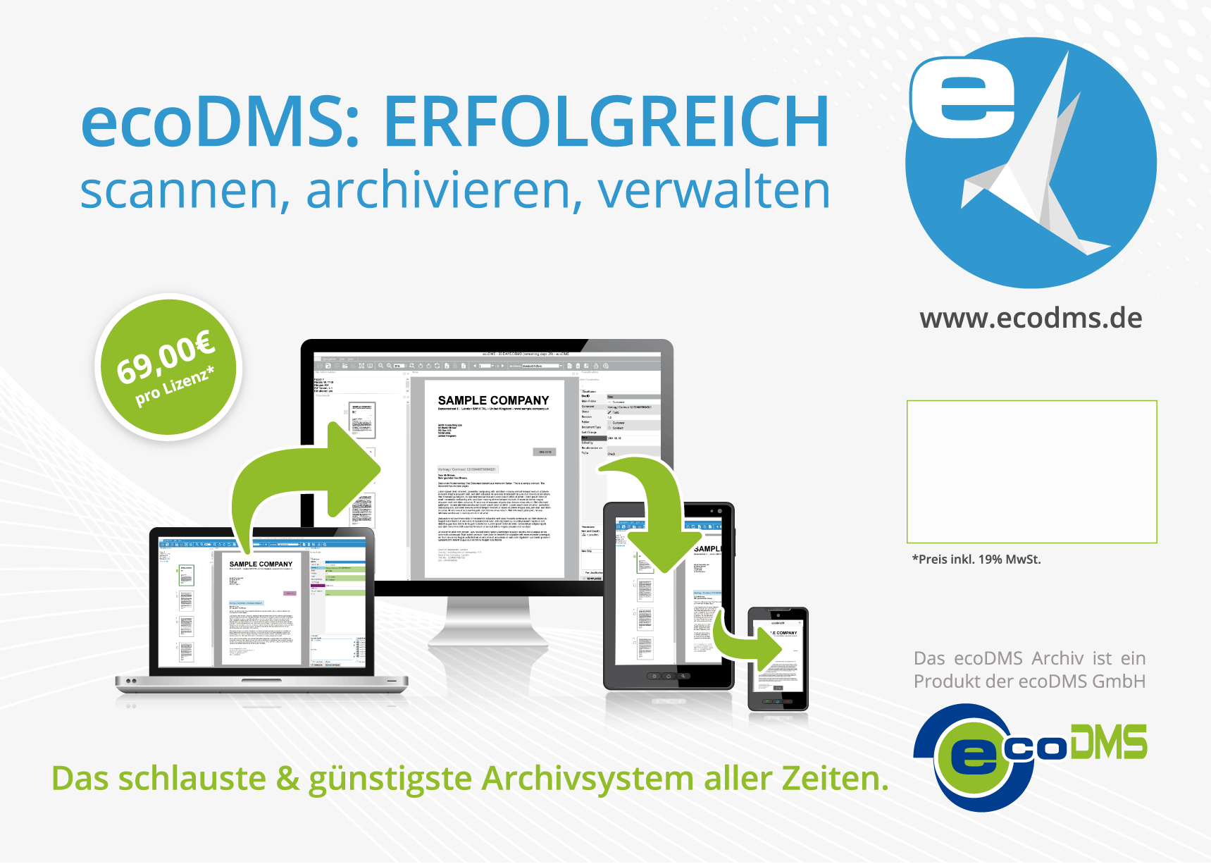 Plakatgestaltung für ecoDMS (Reseller-Programm)