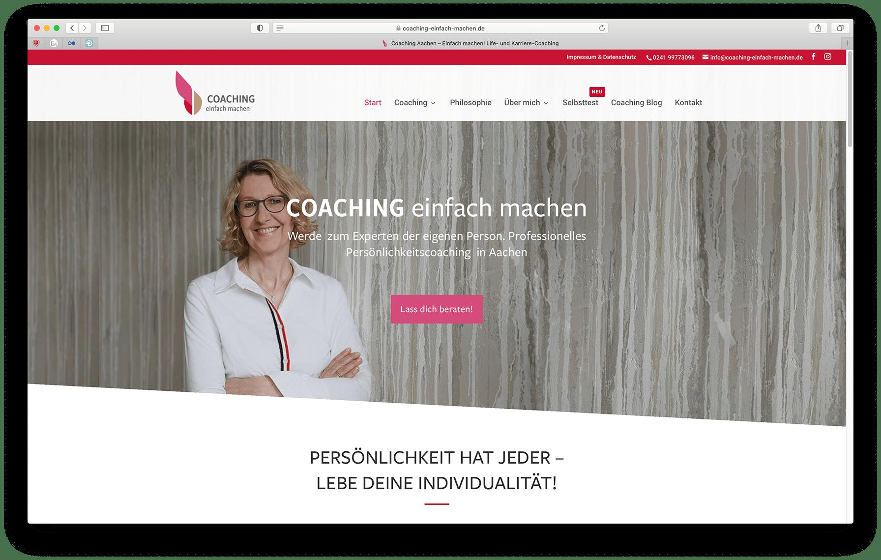 Preise Webseiten, Coaching einfach machen - Elementardesign