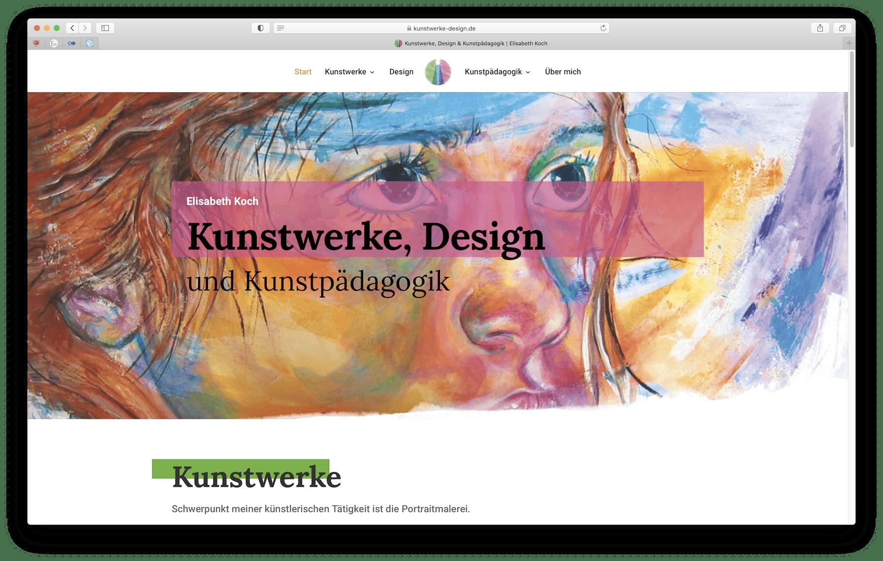 Preise Webseiten, Elisabeth Koch - Elementardesign